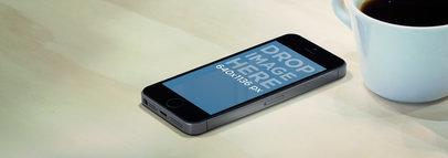 iPhone 5s Dark Portrait On Counterbar Wide