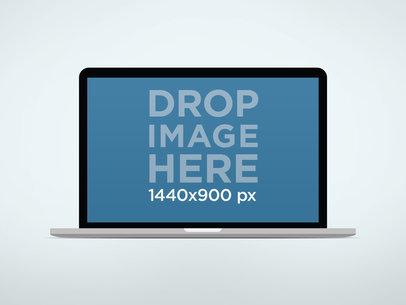 MacBook Air Mockup On Light Background