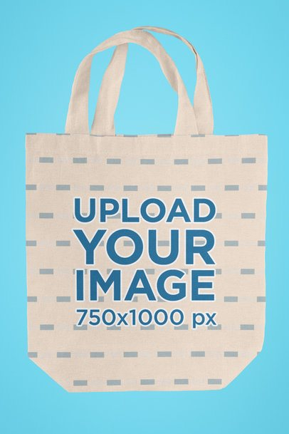 Simple Mockup of a Tote Bag with Customizable Background 41550-r-el2