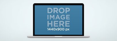 MacBook Air Mockup On Light Background Wide