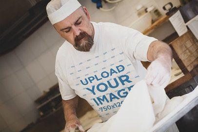 T-Shirt Mockup Featuring a Bearded Baker 40650-r-el2
