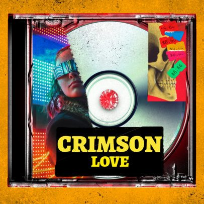 Album Cover Design Generator with Bold Sticker Graphics 2843c