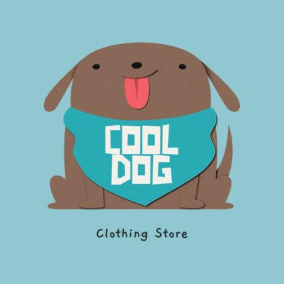 Cute Logo Template Featuring a Dog Graphic 3607a
