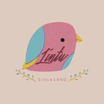 Online Logo Generator Featuring a Paper Cut Bird Illustration 3607e