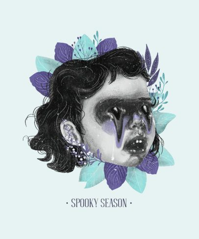 T-Shirt Design Maker with a Quote About Child Abuse 2610c