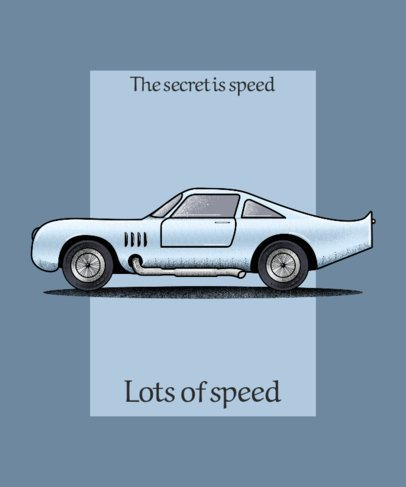 T-Shirt Design Creator with a Fast Classic Car Graphic 2847g