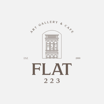 Art Gallery Logo Generator Featuring an Apartment Graphic 3605f