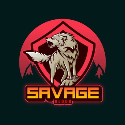 Gaming Logo Template Featuring Emblems with Aggressive Wolves 3620