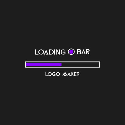 Online Logo Maker Featuring a Loading Bar Graphic 3615