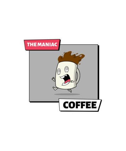 T-Shirt Design Generator for Coffee Enthusiasts Featuring Funny Characters 2633-el1