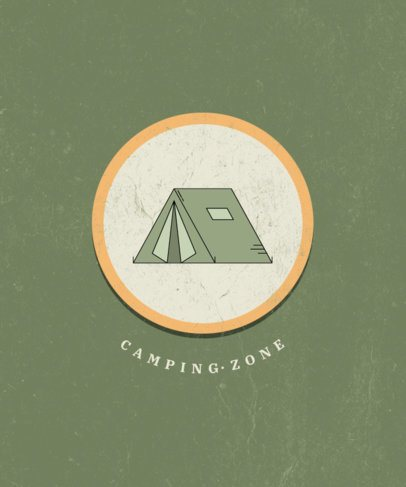 Camping-Themed T-Shirt Design Maker with a Tent Graphic 2724d-el1