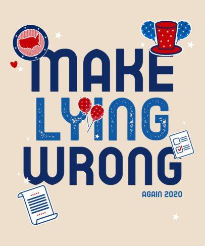 T-Shirt Design Generator Featuring a Political Campaign Quote 2873e