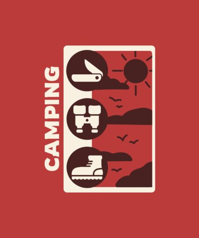 T-Shirt Design Creator Featuring Camping Graphics 2750d-el1
