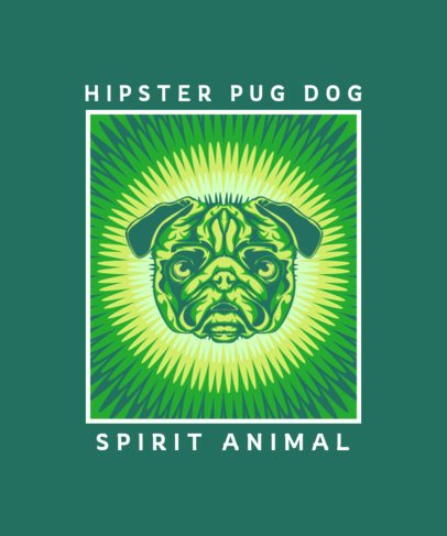 T-Shirt Design Generator Featuring a Colorful Pug Face 2715b-el1