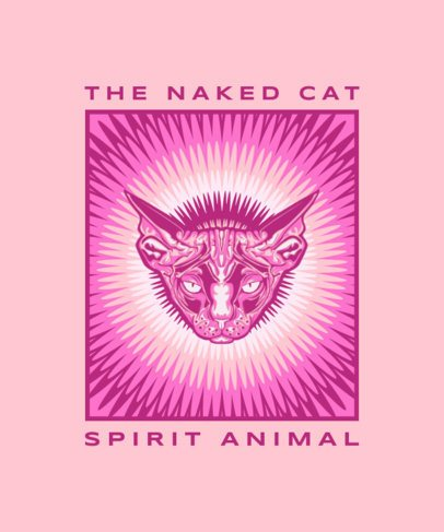 Colorful T-Shirt Design Maker with a Psychedelic Sphynx Cat 2715c-el1