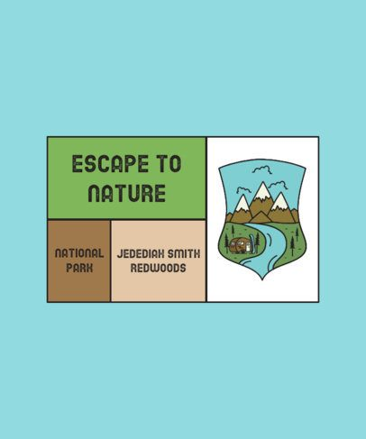 T-Shirt Design Template for National Park Explorers 2616b-el1
