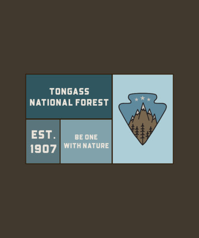 T-Shirt Design Template with an Illustration of a National Forest 2616e-el1