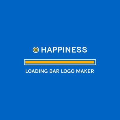 Optimistic Logo Maker with a Full Loading Bar Clipart 3615i