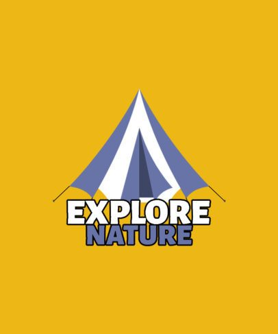 Simple T-Shirt Design Generator for Outdoor Enthusiasts Featuring a Tent Graphic 2723c-el1