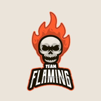 Gaming Logo Generator with a Flaming Skull Graphic 2798c-el1