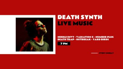 Twitch Banner Design Template for a Death Synth Live Performance 2740c-el1
