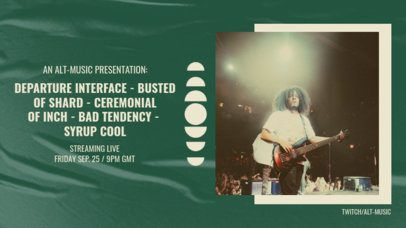 Twitch Banner Design Template for an Alternative Rock Livestream Concert 2728d-el1