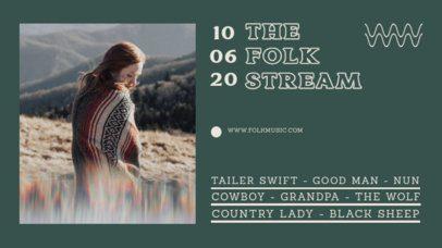 Twitch Banner Design Maker for a Folk Music Artist's Channel 2734c-el1