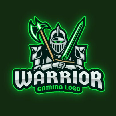 Gaming Logo Template with an Armored Warrior Graphic 2276d-el1