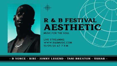 Twitch Banner Template for an R&B Festival 2744d-el1
