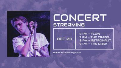 Twitch Banner Design Creator for an Online Concert Stream Promo 2748b-el1