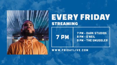 Twitch Banner Maker for a Weekly Music Concert Lineup 2748e-el1