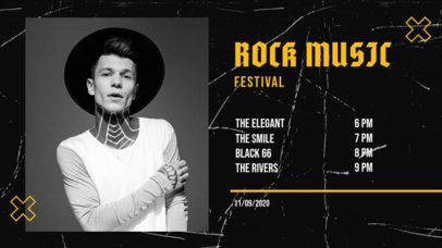 Twitch Banner Design Maker for a Rock Music Festival Lineup 2742-el1
