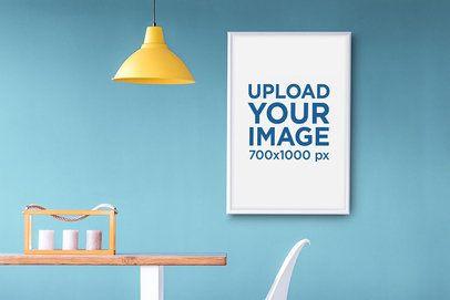 Art Print Mockup Featuring Modern Minimalist Furniture 35881-r-el2