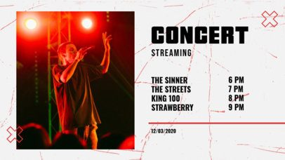 Twitch Banner Maker for a Rock Concert Promo 2742c-el1