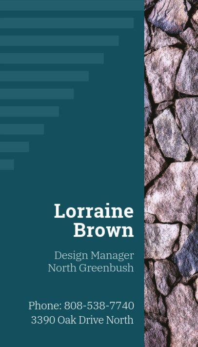 Vertical Business Card Design Maker for a Design Manager 312d