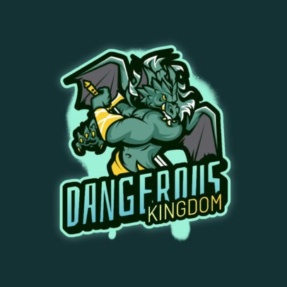 Gaming Logo Generator Featuring a Fantasy Winged Warrior 3639d