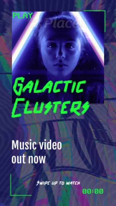 Instagram Story Video Creator with a Cool Futurist Theme for an EDM Artist 2201