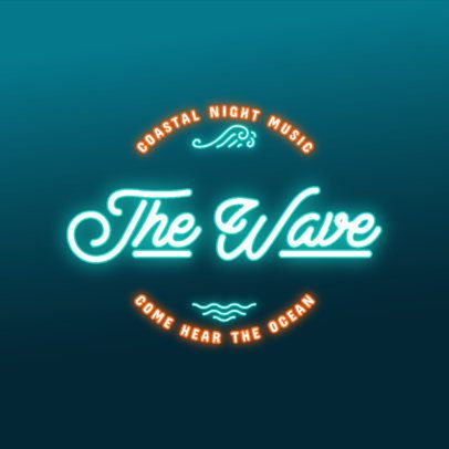 Online Logo Maker for a Beach Bar Featuring Neon Font 3632i