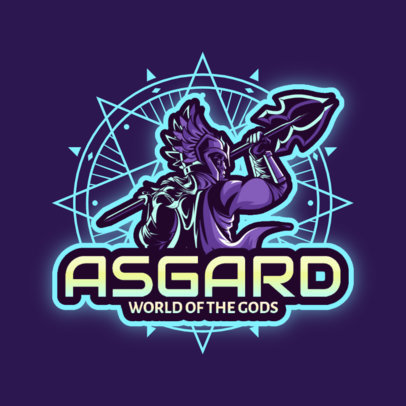Gaming Logo Template Featuring Norse Gods 3650