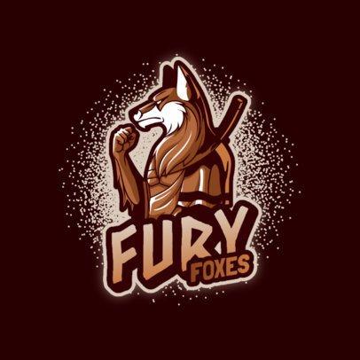 Gaming Logo Maker Featuring an Anthropomorphic Fox Warrior 3639j