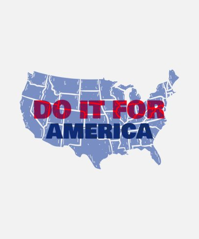 Political Campaign T-Shirt Design Creator Featuring an American Map Silhouette 2874e