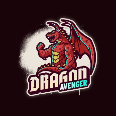 Gaming Logo Maker Featuring an Anthropomorphic Dragon 3639p