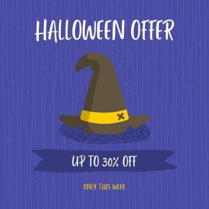 Halloween-Themed Instagram Post Maker for a Halloween Offer 2888b-el1