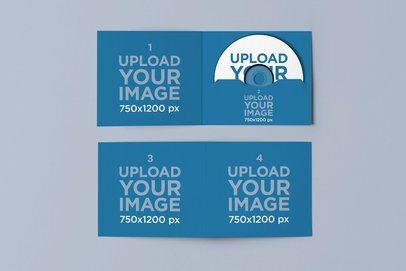 Mockup of a Two Open Digipacks 4945-el1