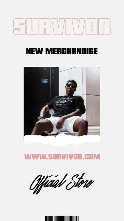 Instagram Story Design Maker for a Rapper's Merch Store 2873e-el1
