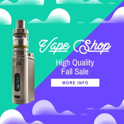 Ad Banner Template for a Dropshipping of Vaping Products 2938d