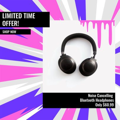 Ad Banner Generator for a Limited Time Offer on Audio Devices 2934c