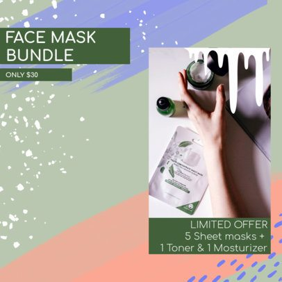 Ad Banner Creator for a Face Mask Bundle Offer 2934e