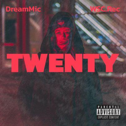 Album Cover Maker for an MC's New Single 2933h