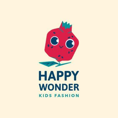 Kids' Apparel Brand Logo Generator Featuring a Cute Pomegranate Illustration 3657i